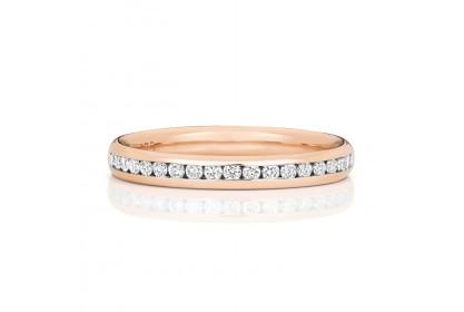 9ct Rose Gold Diamond Half-Eternity Ring